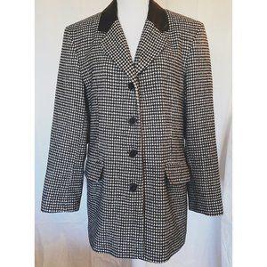 Vintage Sandro Paris Houndstooth Blazer Jacket